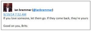 Bremmer re Scottish vote