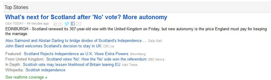 Scotland stays in UK