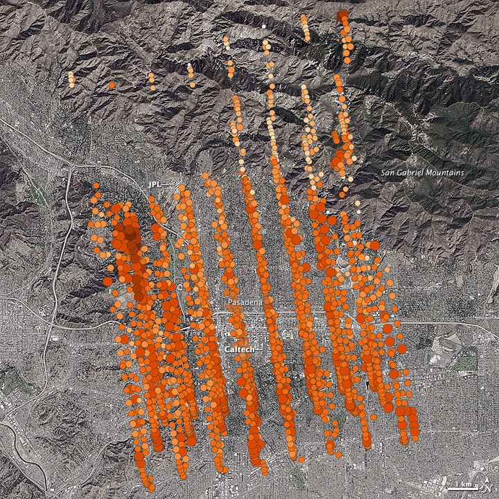 OCO-2@work_Above LA-Pasadena-JPL_Nov2014
