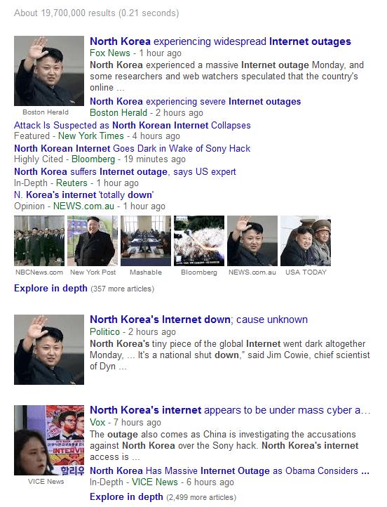 N Korea Internet down_Dec 22, 6.30 EST