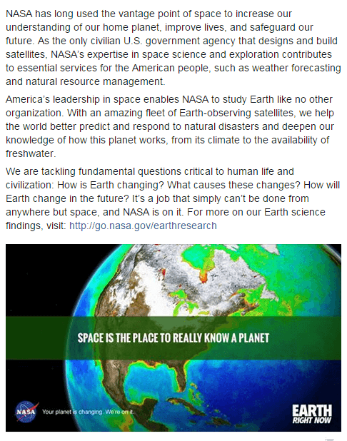 NASA Earth science from space_May2015