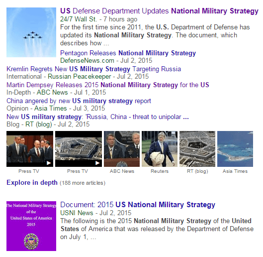 US National Military Strategy