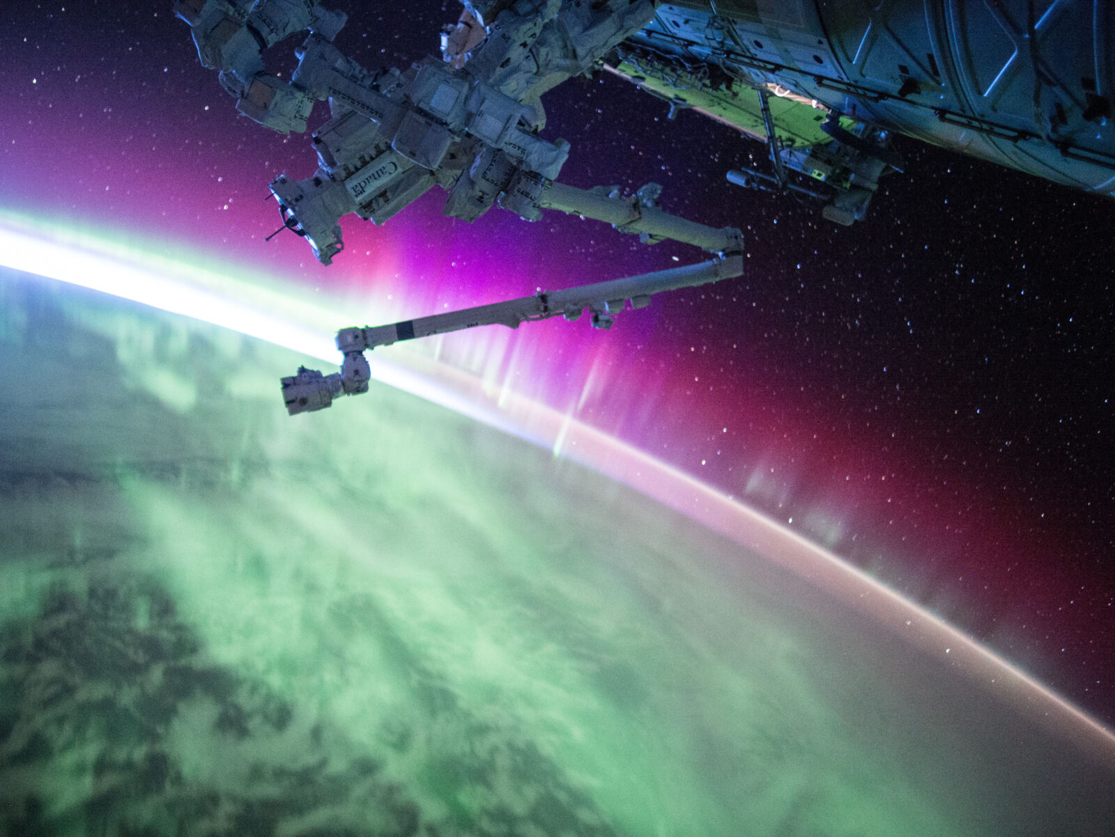 Kelly posted this photo of an aurora to Twitter on Aug. 15
