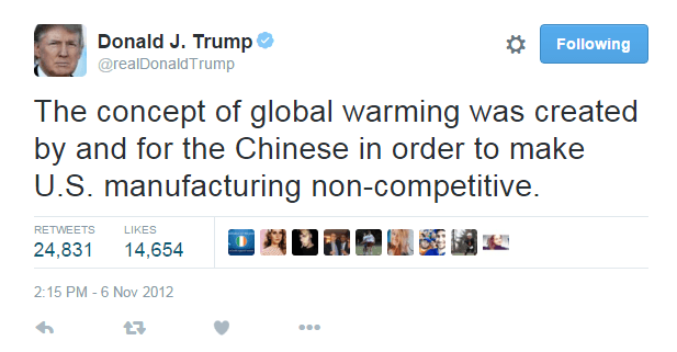 Trump on climate change and china_2012