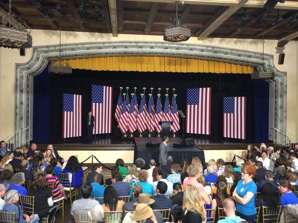 HRC Speech_June 2, 2016 18 American Flags