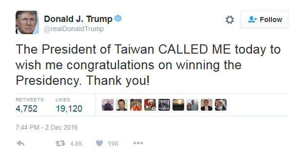 president-of-taiwan-called-me-today